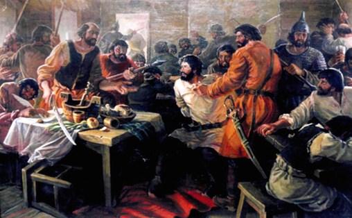 Репродукция картины Георгия Тайгильдина «Арест Мамич-Бердея»