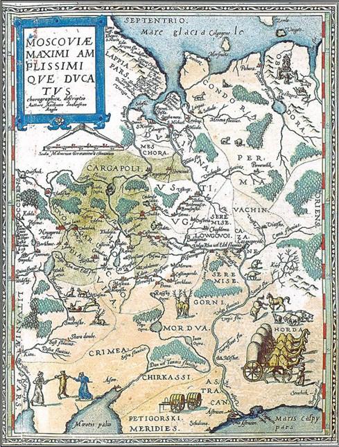 Луговые и горные «черемисы» (марийцы) на карте Московии (1593 г.)